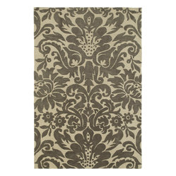 Kaleen - Kaleen Crowne Duncan Rug - Flatter your floors with this romantic rug. Beautifully textured with graceful floral curves, it's chic style and luxurious softness, all in one pretty package.