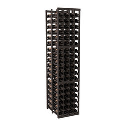 """Wine Racks America - 4 Column Double Deep Cellar in Redwood, Black + Satin Finish - Stores 12 cases of wine using less than 18"""" of wall space. The high capacity double deep wine rack is a great starting point and addition to any wine cellar. Engineered for strength and designed for beauty; you'll cherish these racking systems for a long time. These features are guaranteed."""