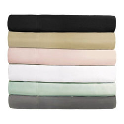 "MicroFiber Sheet Sets - Super soft, brushed microfiber. 100% MicroFiber Sheet sets are wrinkle resistant, breathable and stain resistant. Hypoallergenic and dust mite proof. Fully elasticized fitted sheet fits mattress depths from 6"" to 18"". Flat sheets are oversized for convenient tucking."