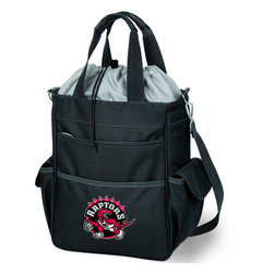 Picnic Time - Toronto Raptors Activo Waterproof Tote in Black - The Activo Waterproof Tote has a fully insulated compartment that provides plenty of room for your food and drink items. The tote's exterior is made of durable polyester and the interior is made of heat-sealed PVC for no leaks. All materials used exceed federal and state safety regulations, so you can be assured the Activo is safe. The Activo is ideal for the beach, sporting events, or long trips in the car. It can also be used for transporting cold items to and from parties, or frozen goods home from the store. Spacious pockets provide additional storage and convenience. Versatile and stylish, this bag is one the whole family will love! ; Decoration: Digital Print