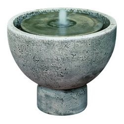 Campania - Rustica Pot Garden Water Fountain, Brown Stone - The Rustica Pot Garden Fountain will surely get anyone's attention in any outdoor setting. This water fountain is simple yet dramatic and striking. This fountain will grow more beautiful as it ages and will last for many years of generation. It is produced with superb craftsmanship, inspired design, detailed structure and pleasant water sound that makes this fountain a relaxing addition to any outdoor space. Pictured in 'Alpine Stone' finish, a rich slate color inspired by stone found in the foothills of Italian Alps.