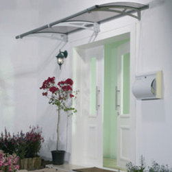 Poly-Tex, Inc. - Aquila 2050 Door Awning, Grey - Features: