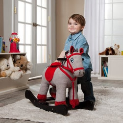 Corduroy Horse Rocking Horse - When you can't have a pony in the house, the next best thing is the Corduroy Horse Rocking Toy. Super fun, super soft, super cute. Designed to put toddlers in the saddle, this horse takes them as far as their imagination allows. Recommended for children under six years of age.