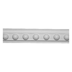 Renovators Supply - Crown Moldings White Urethane Fris - Crown Molding - Ornate   20418 - Crown Moldings: Made of virtually indestructible high-density urethane our crown molding is cast from steel molds guaranteeing the highest quality on the market. High-precision steel molds provide a higher quality pattern consistency, design clarity and overall strength and durability. Lightweight they are easily installed with no special skills. Unlike plaster or wood urethane is resistant to cracking, warping or peeling.  Factory-primed our crown molding is ready for finishing.  Measures 2 1/4 inch H x 79 inch L.