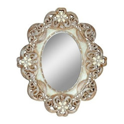 Vintage Rose Wall Mirror - 30W x 36H in.