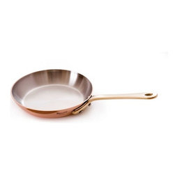 Mauviel - Mauviel M'heritage Mini Round Fry Pan, Bronze Handle, 0.9 qt. - Bilaminated copper stainless steel (90% copper and 10% 18/10 stainless steel)