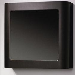 Whitehaus - Aeri Single Door Medicine Cabinet - Two shelves. Ebony color. 21.75 in. W x 8 in. D x 21.75 in. H (34 lbs.). Warranty