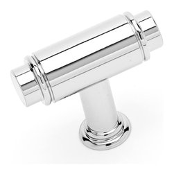 RK International CK 781-PN Cabinet Knob - Small Cylinder - Polished Nickel Finis - This polished nickel finish cabinet knob with small cylinder design is part of the Cylinder Series Hardware Collection from RK International and is a perfect blend of craftmanship in traditional and contemporary design to complement any decor.