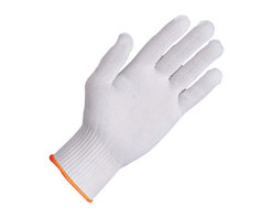 Zenport - 12 Pairs 10 gram Nylon Gloves - Zenport GN025 1 Dozen Pair of Full Finger Gloves, Glove Liner, 10 Gram Nylon Construction. Ambidextrous glove liner acts as a buffer between hand and outer glove minimizing skin irritation from over-exposure to latex, vinyl or nitrile. Excellent sweat/moisture absorbency. Can be laundered and re-used. ISO 9002 Certified. Note: Both Nylon and Tetoron Polyester are lightweight and durable synthetic fabrics that share many of the same properties, such as easy care, wrinkle resistance, stretch resistance and shrink resistance. Nylon is typically softer than polyester but also stronger, while polyester is faster drying, and abrasion resistant.