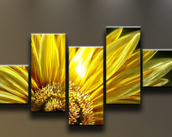 Matthew's Art Gallery - Metal Wall Art Modern Sculpture Flower Yellow Sunflower - Name: Sunflower