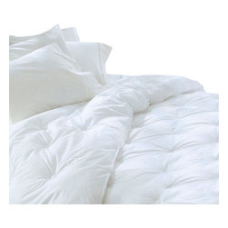 Pacific Coast Feather Company - Restful Nights Ultima Supreme Comforter - The Restful Nights Down Alternative Comforter is an exclusive down comforter for people that need a good soft fabric for their bed cover. This comforter is filled with highly slickened Down Alternative fiber coils that give breathability and silky loft maximizing your sleep comfort all year round. In addition the Restful Nights Down Alternative Comforter is a great option for anyone who is looking for a comforter made specially from fiber fill material. This luxurious comforter will stay very soft and fluffy for years to come. Rest in allergy-free luxurious comforter and benefit from its unique design. The Restful Nights Down Alternative Comforter has hypoallergenic polyester clusters that will keep the dust or mites away that we often find around the bed area. This down alternative has a window panel design that ensures the most comfortable sleep without moving your comforter at all during the nigh.