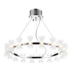 Iberlamp - Iberlamp C308-18-FR Kim 18 Light 1 Tier Chandelier - Features: