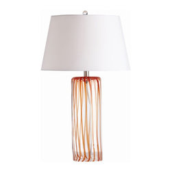 "Arteriors - Arteriors Home - Talia Table Lamp - 17344-482 - Arteriors Home - Talia Table Lamp - 17344-482 Features: Talia Collection Table LampWhite ColorGlass FinishHand crafted. UL and CUL listed. Light bulbs not included. 3-Way rotary Switch type2-Prong and polarized Plug typeA15 incandescent Recommended bulbWired for 110 - 120V150W Max wattage (per socket) Some Assembly Required. Dimensions: 17"" W X 17"" D X 28.5"" H"
