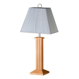 CAL Lighting - Cal Annapolis - 1-Light Table Lamp - Natural Wood Finish w/ String Shade - 150W Wood Table Lamp with String Shade