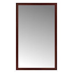 """Posters 2 Prints, LLC - 47"""" x 77"""" Ansley Mahogany Custom Framed Mirror - 47"""" x 77"""" Custom Framed Mirror made by Posters 2 Prints. Standard glass with unrivaled selection of crafted mirror frames.  Protected with category II safety backing to keep glass fragments together should the mirror be accidentally broken.  Safe arrival guaranteed.  Made in the United States of America"""