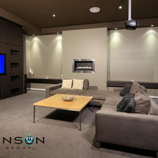 Modern Home Theater by Branson Design Group