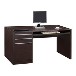 Coaster - Cappuccino Contemporary Desk - Contemporary design office desks feature storage drawers, connect-it drawer and power strip built in to charge your everyday electronic accessories.