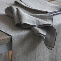"""Origin Crafts - Duet natural/grey linen table runner 19x67 - Duet Natural/Grey Linen Table Runner 19x67 100% linen. We have a wide collection of 100% linen table runners to suit your decor style, ranging from solid to jacquard,casual to luxurious and contemporary to French country chic. They can be placed along the table or across it, depending on the look that you want to achieve. Beautiful hemstitched edges highlight the sophistication of a linen runner and make it an attractive element in any interior. Dimensions (in): 19"""" x 67"""" By Linen Way - Linen Way is a family-owned wholesale business that sells the finest home textiles, handpicked from around the world. Linen Way offers inspirational products for your life and home in traditional and modern designs. Estimated Delivery Time 1-2 Weeks. Please be aware that some products are handmade and unique therefore there may be slight variations in each individual product."""