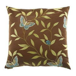 D.V. KAP Home - Papillon 24 x 24 Decorative Pillow - -24x24 zippered removable cover  -Comes with Feather/Down insert  -Spot or dry clean D.V. KAP Home - 2021