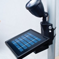 MAXSA Innovations - Solar LED Flag Light - - Sleek compact design keeps your flag lit up all night