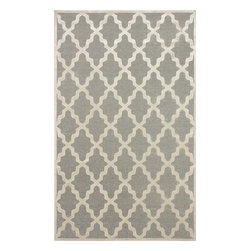 """nuLOOM - Contemporary 2' 6"""" x 8' Light Grey Machine Made Area Rug Trellis VL06 - Made from the finest materials in the world and with the uttermost care, our rugs are a great addition to your home."""