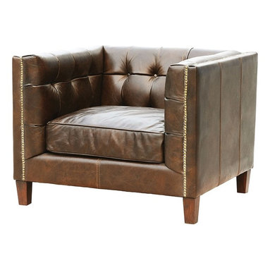 Abbott Club Chair- Saddle Cocoa - Timeless elegance, unsurpassed quality and classic design. Our Abbott Arm Chair is built of a hardwood frame and all down feather cushions, each piece is covered in the finest, top grain leathers, which are tanned and aniline-dyed.