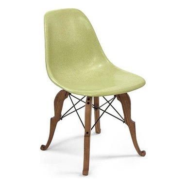 Modernica Prince Charles Side Shell Chair - Peter Shire and the Modernica Studio teamed up and designed the Prince Charles Chair. By combining the modern and the classic, the chair has been described as a distant cousin of Queen Anne.