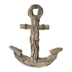 Lazy Susan - Lazy Susan 356023 Driftwood Anchor - Hang this on your deck or patio wall and pretend you're the owner of that great little skiff you've always wanted. Avast ye matey!