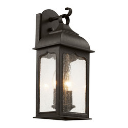 Trans Globe - Seeded Masonic Wall Lantern - Seeded Masonic Wall Lantern features clear seeded glass with Rubbed Oil Bronze finish available in three sizes.  Small size is 7.25 inches wide x 6.25 inches deep x 16.5 inches high and requires two 60 watt 120 volt B10 candelabra base incandescent lamps not included.  Medium size is 8.5 inches wide x 20.75 inches high x 7.5 inches deep and requires three 60 watt 120 volt B10 candelabra base incandescent lamps not included.  Large size is 10.75 inches wide x 24.5 inches high x 9 inches deep and requires three 60 watt 120 volt B10 candelabra base incandescent lamps not included.  Fixture is open at bottom for easy access to lamps.