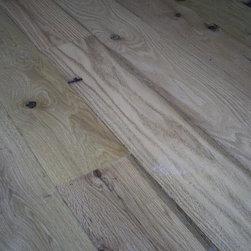Barnwood Creations by Creative Hardwoods - resurfaced oak barnwood floorin by creative hardwoods