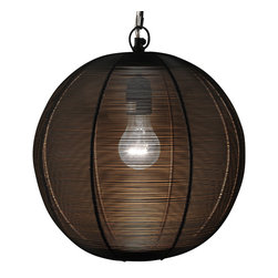 Artemano - Round Hanging Metal Wire Lamp - Place this round, sophisticated hanging lamp in your favorite room to cast an inviting, filtered glow for friends and family to admire. Carefully handcrafted out of thin metal wire, each artisanal suspended lamp is one-of-a-kind and cherished for the subtle differences from one lamp to the next. Looks great on its own or when hung in small groups.