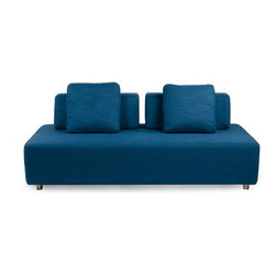 Aviest Love Seat, Blue - The bold color and simple shape of this love seat are less midcentury modern than minimal, but I like it. It's also small space–friendly, doubling as a guest bed without looking like the daybed it secretly is.