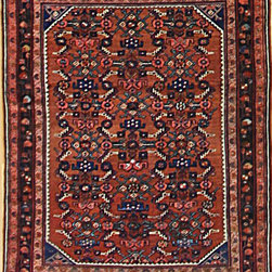 "Persian - Persian Malayer Antique Rug 3' 6"" x 4' 6"" - Original Hand made rugs form michael rugs collections"