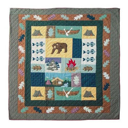 Patch Quilts - Cabin Twin Duvet Cover - -Constructed of 100% Cotton  -Machine washable; gentle dry  -Made in India Patch Quilts - DCTCABN