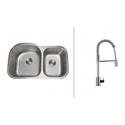 Ruvati - Ruvati RVC2551 Stainless Steel Kitchen Sink and Chrome Faucet Set - Ruvati sink and faucet combos are designed with you in mind. We have packaged one of our premium 16 gauge stainless steel sinks with one of our luxury faucets to give you the perfect combination of form and function.