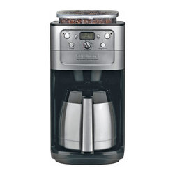 Cuisinart - Cuisinart Burr Grind and Brew Thermal 12-Cup Automatic Coffeemaker - 8 oz. bean hopper with a sealed lid to prevent moisture