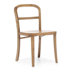 Zuo Modern - Zuo Fillmore Chair in Natural [Set of 2] - Fillmore Chair in Natural by Zuo Modern Simple and refined, the Filmore chair's carved, solid elm frame and smooth seat will not overpower any setting. Comes in natural, antique white, and antique black finishes. Chair (2)