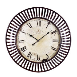 IMAX CORPORATION - Banded Metal Wall Clock - Banded Metal Wall Clock. Find home furnishings, decor, and accessories from Posh Urban Furnishings. Beautiful, stylish furniture and decor that will brighten your home instantly. Shop modern, traditional, vintage, and world designs.