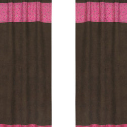"Sweet Jojo Designs - Western Cowgirl Bandana Print and Chocolate Window Panels (Set of 2) - Create a stylish look for your child's room with the Western Cowgirl Bandana Print & Chocolate Window Panels (Set of 2). This set features 2 Window Panels that are 42"" x 84"" each."