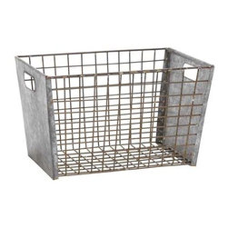 Exclusively Hand-Forged Metal Wire Basket, Small - A simple wire basket corralling ordinary items (like toilet paper in the bathroom) can instantly amp up the space and make it feel more thoughtful.