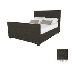 Apt2B - Huntley Tufted Upholstered Bed, Woven Graphite, Cal King - Covered in a slightly textured poly-blend fabric, expertly button tufted and accented with rustic antiqued nailheads, the Huntley will turn any drab bedroom into a luxury budoir or man castle!