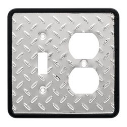 Liberty Hardware - Liberty Hardware 126486 Diamond Plate WP Collection 4.96 Inch Switch Plate - A simple change can make a huge impact on the look and feel of any room. Change out your old wall plates and give any room a brand new feel. Experience the look of a quality Liberty Hardware wall plate. Width - 4.96 Inch, Height - 4.9 Inch, Projection - 0.2 Inch, Finish - Polished Chrome, Weight - 0.27 Lbs.