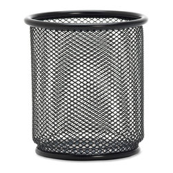 "Lorell - Lorell Black Mesh/Wire Pencil Cup Holder - 3.5"" x 3.9"" - Steel - 1 Each - Black - Pencil cup holder offers an elegant way to keep your writing utensils handy. Steel mesh features double-rimmed, smooth edges and a powder-coat finish. Pencil cub holder is recyclable."