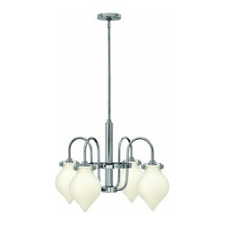 Hinkley Lighting - Hinkley Lighting 3042 Congress 4 Light 1 Tier Chandelier - Four Light Single Tier Chandelier with Etched Opal Teardrop Shade from the Congress CollectionFeatures: