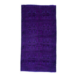 West of Hudson - Overdyed Vintage Tribal Purple Rug, 3.3x6.16 Ft. - Handknotted one of a kind over-dyed rug with vibrant colors. West of Hudson is proud to offer authentic vintage and new hand knotted rugs that that are carefully selected for our exclusive overdye collection. Each rug is a unique work of art. 100% handmade from start to finish.
