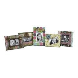 "IMAX CORPORATION - Carter Photo Frames - Set of 5 - Mixed patterns and metal flower accents make this set of five various sized frames great for displaying all your favorite photos. Set of 5 in various sizes measuring around 13.75""l x 11.25""W x 9.25""H each. Shop home furnishings, decor, and accessories from Posh Urban Furnishings. Beautiful, stylish furniture and decor that will brighten your home instantly. Shop modern, traditional, vintage, and world designs."