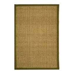 Safavieh - Safavieh Natural Fiber Casual Rug X-8-G411FN - Hand-woven with natural sea grass, this casual area rug is innately soft and durable.  This densely woven rug will add a warm accent and feel to any home.  The 100-percent cotton canvas backing adds durability.