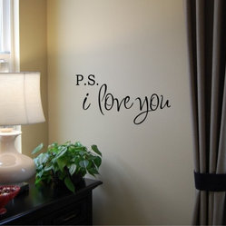 PS I Love You Vinyl Wall Decal by Home Sweet Walls