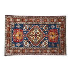 1800-Get-A-Rug - Oriental Rug Hand Knotted Rug Super Kazak Tribal Design Sh7804 - About Tribal & Geometric