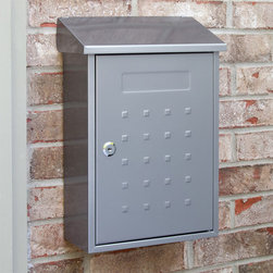 Samai Locking Wall-Mount Stainless Steel Mailbox - Style and security are provided with the Samai Locking Wall-Mount Stainless Steel Mailbox. The raised square design adds a charming touch while the locking feature ensures security of your mail.